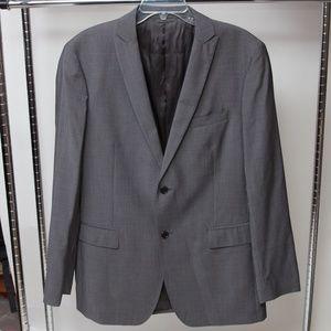 John Varvatos Grey Two Button Blazer Size 52